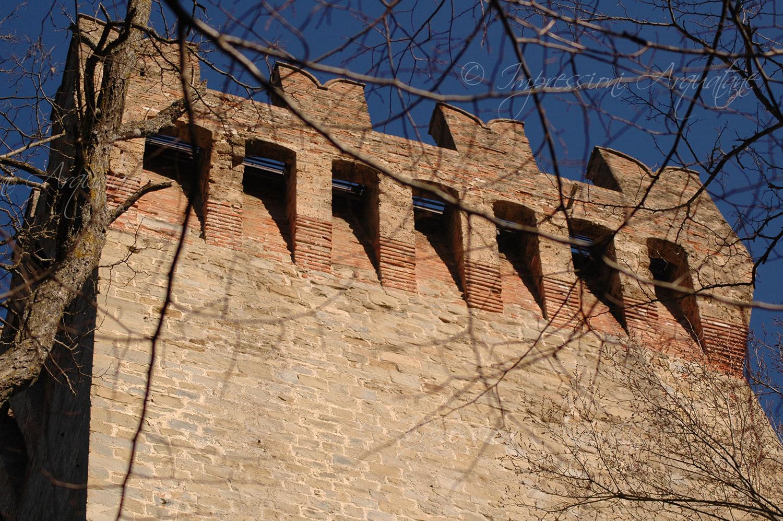 Rocca di Arquata – Particolare della torre nord