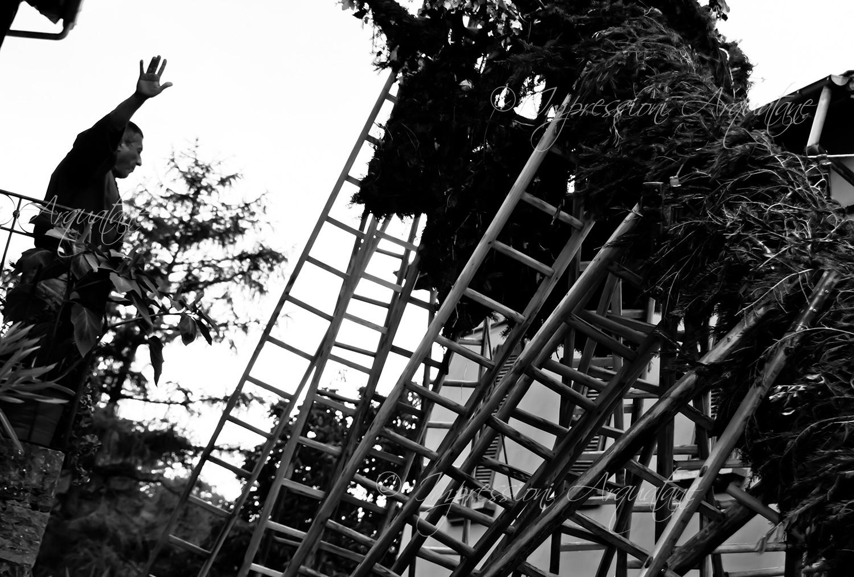 Festa Bella 2010 – Guido Franchi dirige l'alzata dell'albero